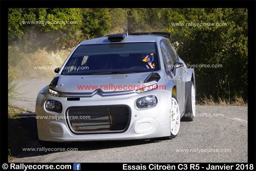 Essais Citroën 2018 / Développement C3 R5