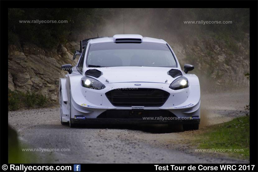 Essais Ford (M-Sport) / Tour de Corse WRC 2017