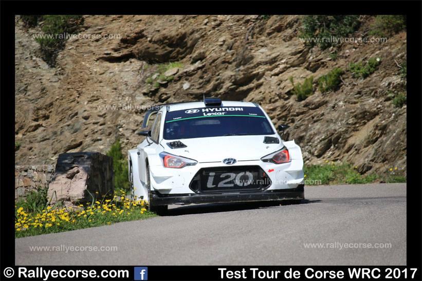 Essais Hyundai / Tour de Corse WRC 2017