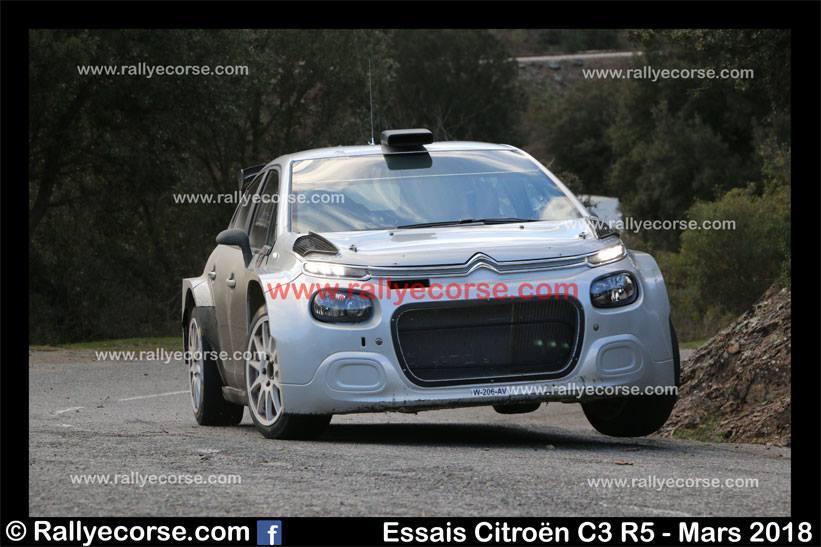 Essais Citroën (R5) / Tour de Corse WRC 2018