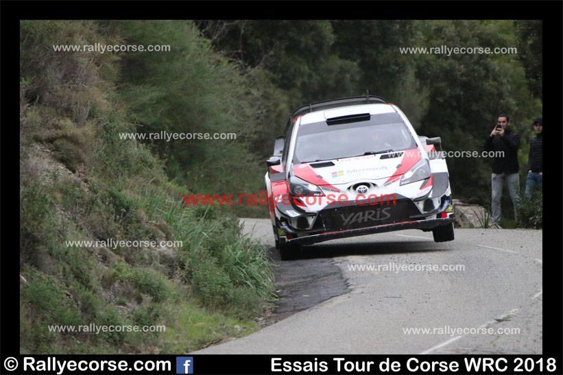 Essais Toyota / Tour de Corse WRC 2018