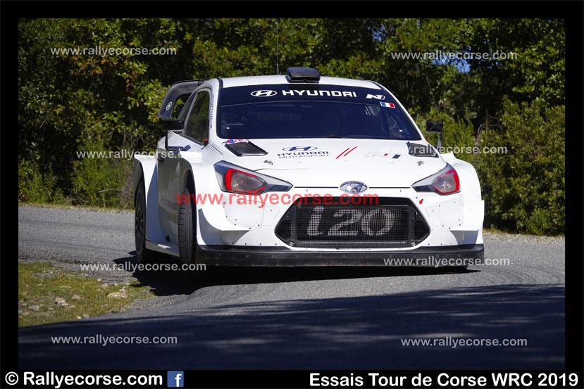 Essais Hyundai / Tour de Corse WRC 2019