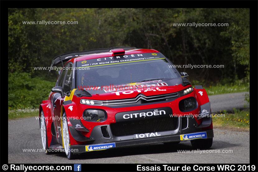 Essais Citroën / Tour de Corse WRC 2019