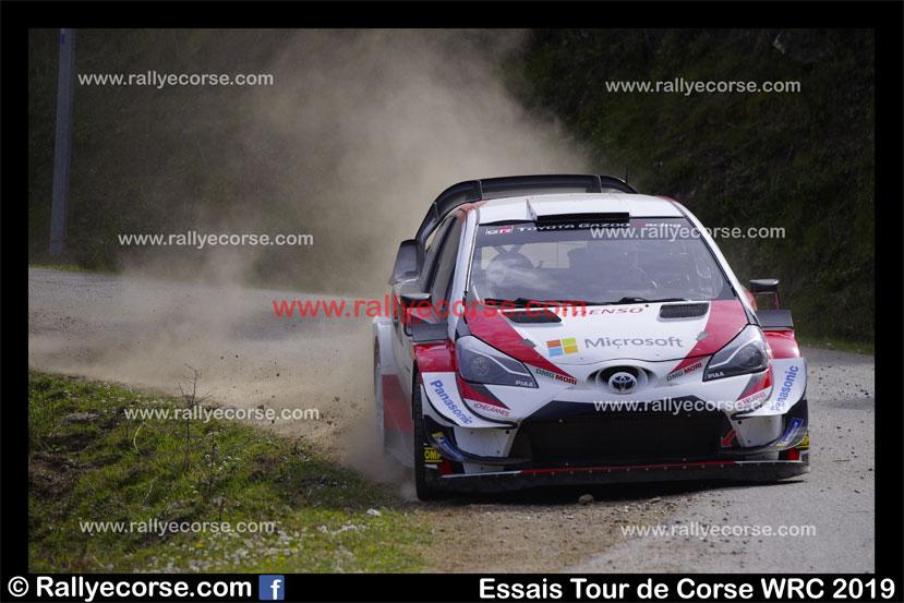 Essais Toyota / Tour de Corse WRC 2019