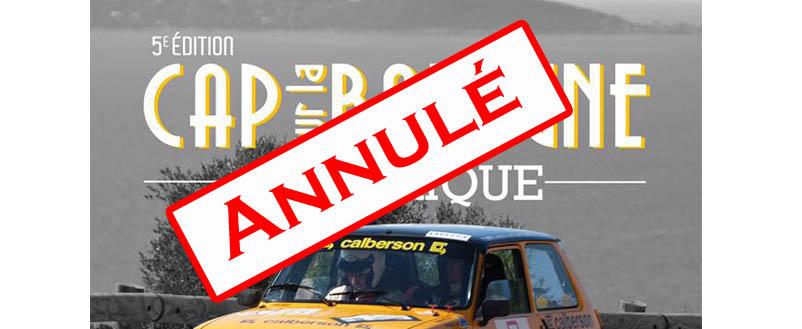 Le rallye Cap sur la Balagne Historique annulé !!